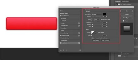 Apply Drop Shadow to Rectangle in Photoshop