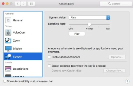 macos voice settings