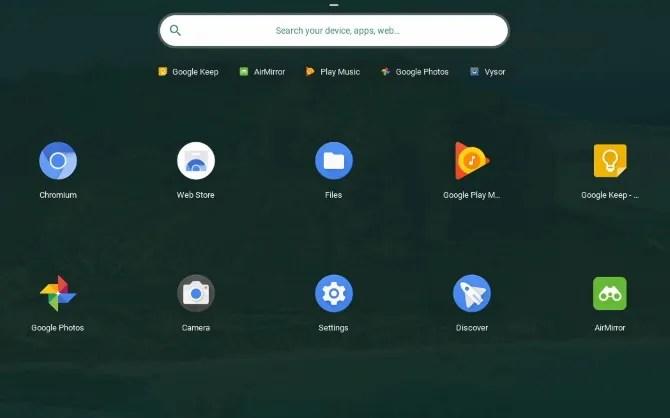 Предустановленные приложения Chrome OS