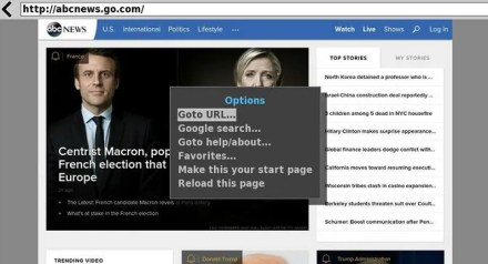 roku web browser x