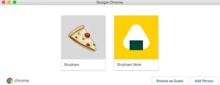 Manage multiple accounts on Google Chrome