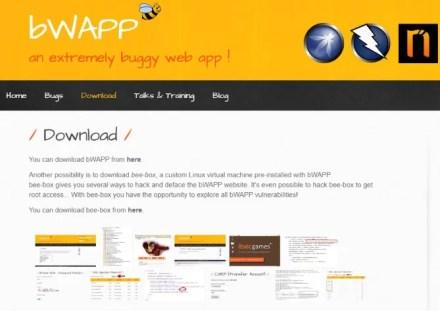The BWAPP website