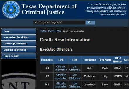 Texas Justice Last Words