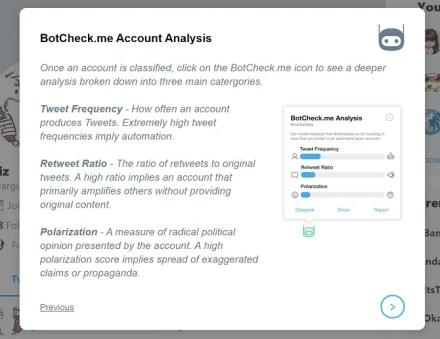 botcheck account analysis factors