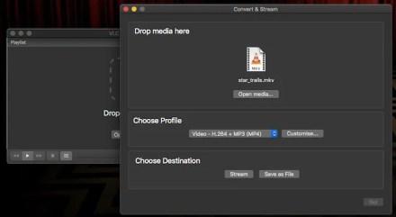 convert video vlc mac