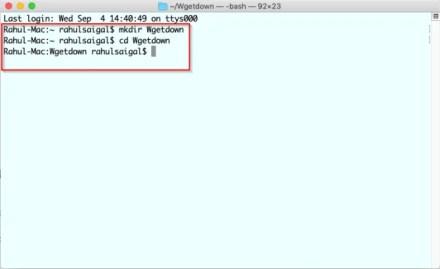 create folder through Terminal