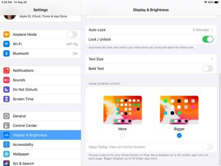 Make iPadOS Home Screen Icons Bigger