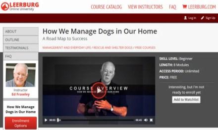 Leerburg University Free Online Dog Training Course