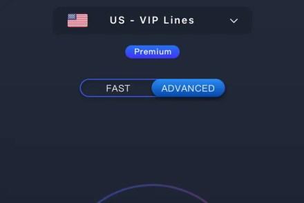 Choose fast or advanced in Hotspot VPN
