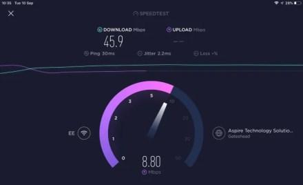 Hotspot VPN speedtest with VPN off