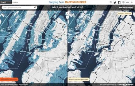 Compare rising sea level scenarios