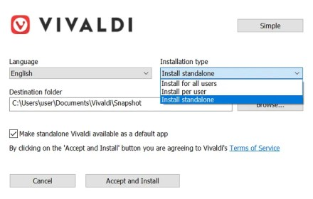 vivaldi portable web browser usb