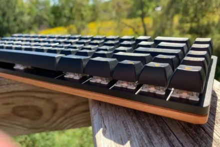 A look at the wood base and mechanical switches