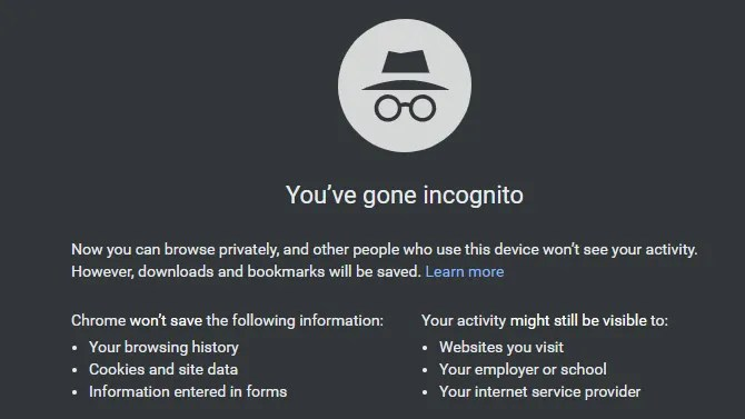 Chrome Go de incógnito