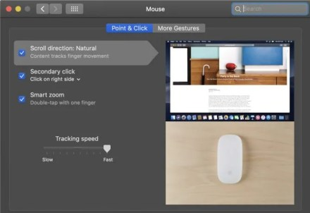 macOS Menu Magic Mouse Control Gestures