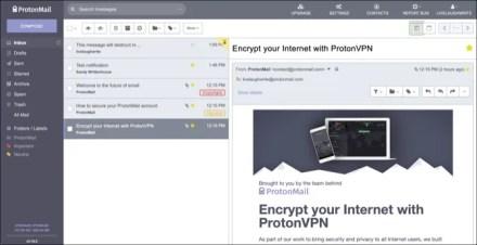 ProtonMail web interface