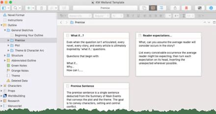 Scrivener Story Planning Template