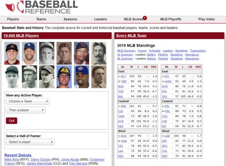 baseball reference wiki site