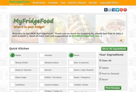 MyFridgeFood Find Recipes With Ingredients You Have