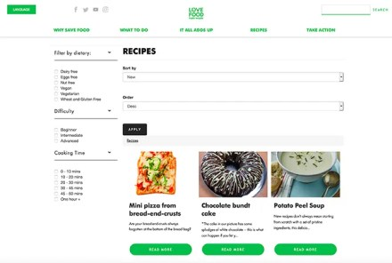 Love Food Hate Waste Recipes for Leftovers