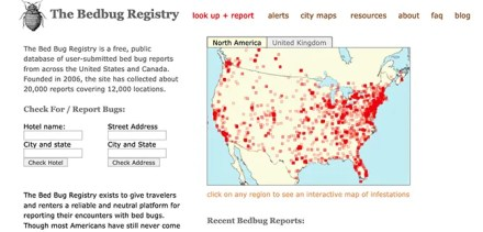 Bed Bug Registry Front Page