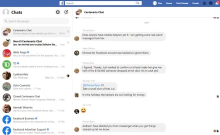 facebook messenger web app