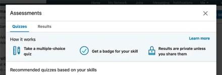 LinkedIn Skill Assessments Give You a Verification Badge