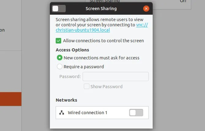Включить удаленный рабочий стол Ubuntu