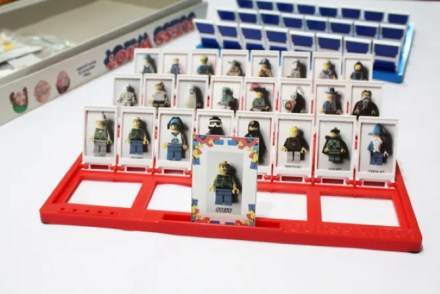 A printable game of Guess Who with LEGO characters