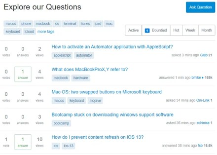 stack exchange apple site