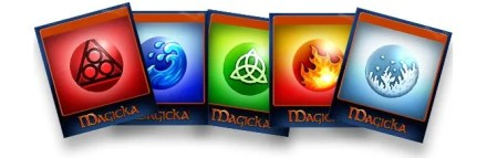 Steam trading cards for the game Magicka