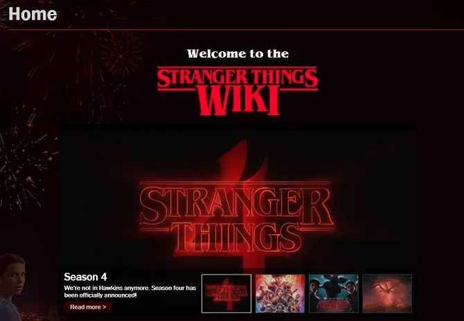 stranger things wiki site