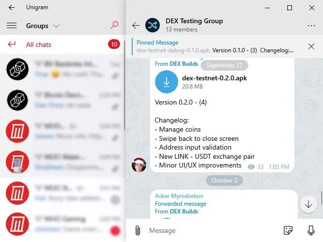 unigram telegram desktop client alternatives