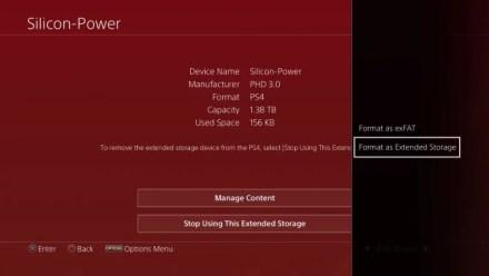 PS4 Format External Storage