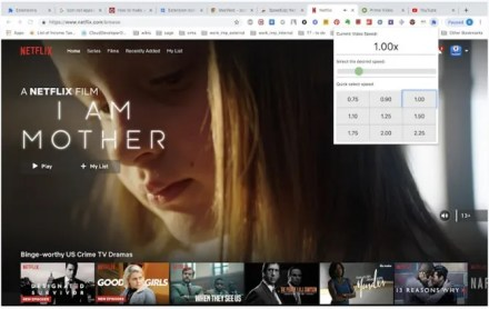Netflix variable playback google chrome extension plug-in