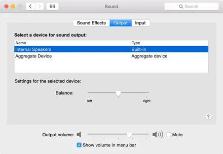 Mac choose the right output audio device