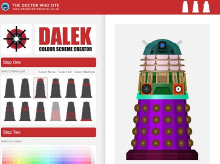 Design your own Doctor Who Dalek