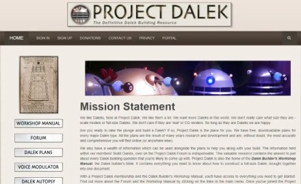 Doctor Who sites include Dalek building instructions