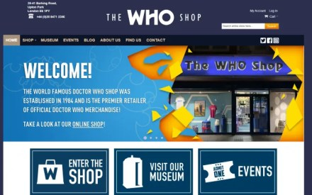 Get Doctor Who merchandise at the Who Shop