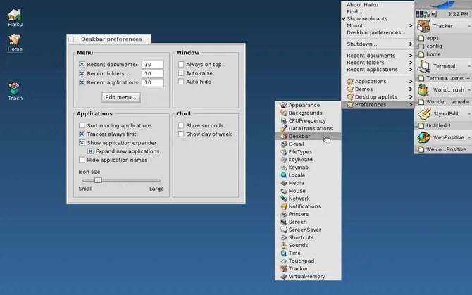 Haiku бесплатная операционная система рабочего стола