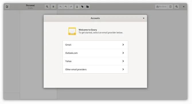 Почтовый клиент GNOME Geary в Linux