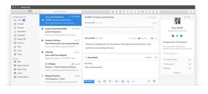 Почтовый клиент Mailspring в Linux