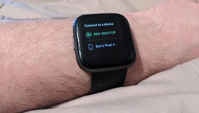 Spotify Подключиться к устройству Fitbit
