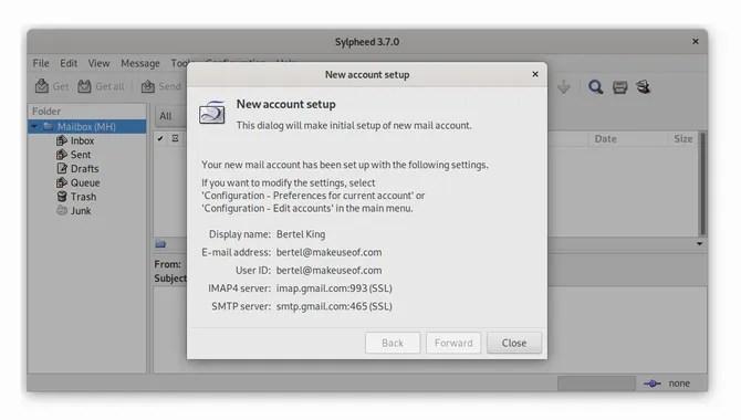 Почтовый клиент Sylpheed Linux