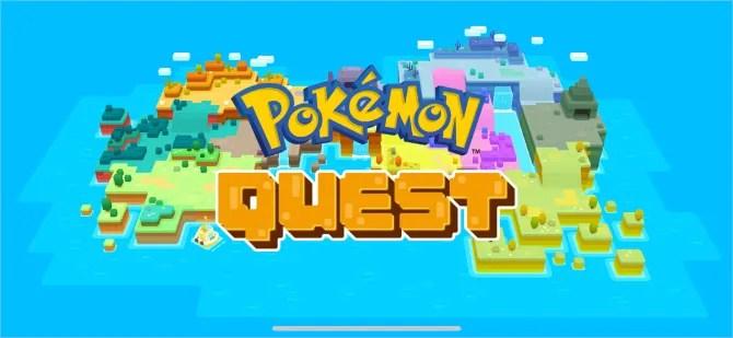 Начальный экран Pokemon Quest