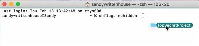 Терминал Показать файл на Mac