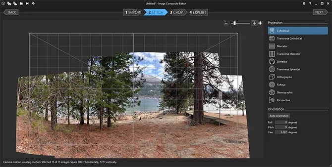 Create Panorama Image Composite Editor