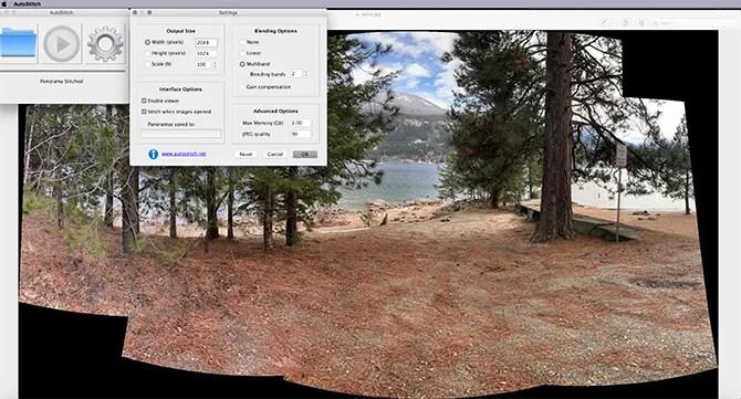 Создание панорамы из нескольких фотографий Autostitch