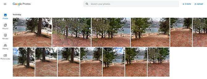 Create Panorama Google Photos