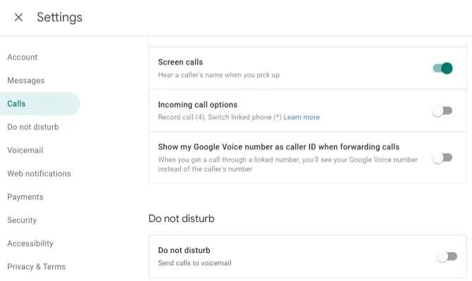 Google Voice Screen Calls